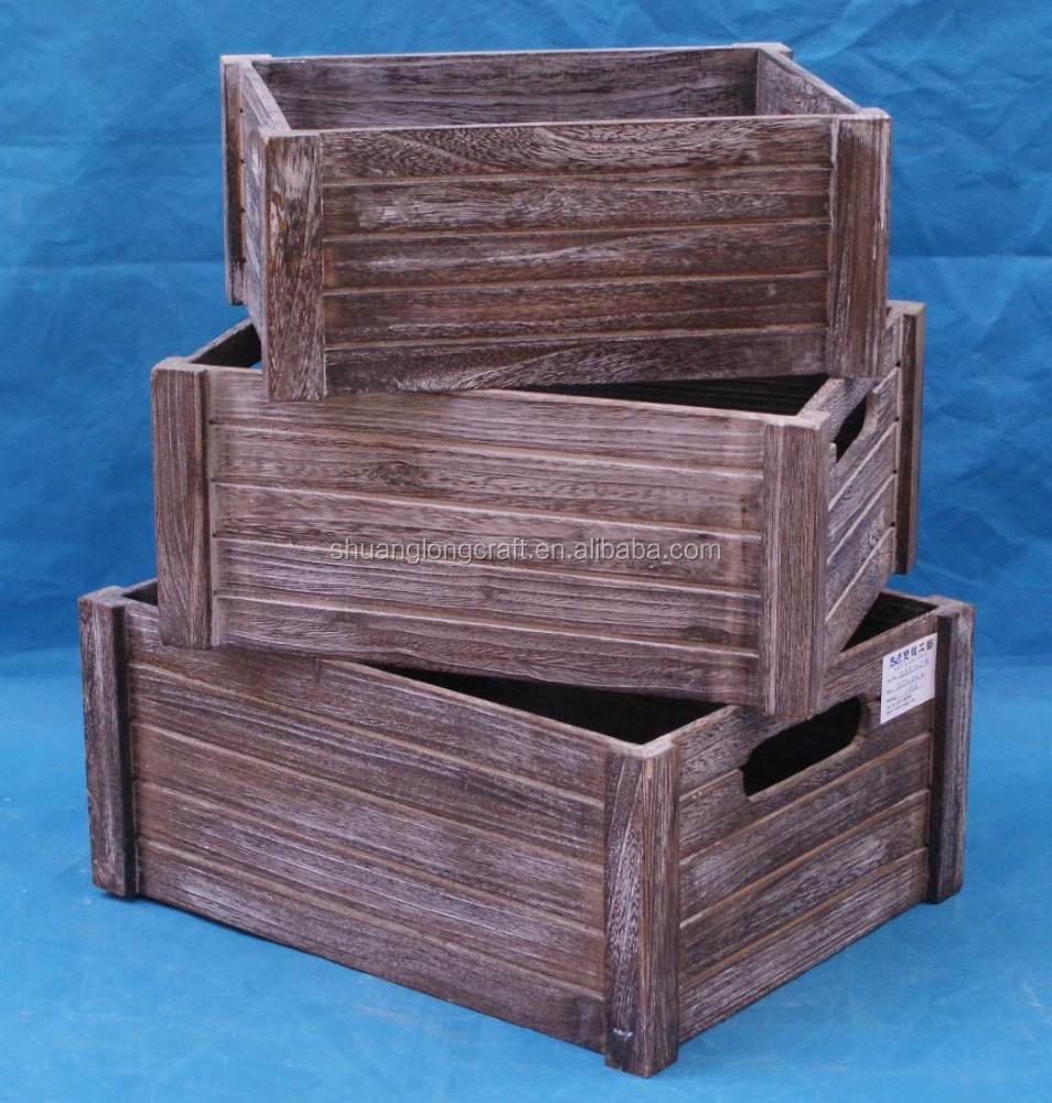 Cheap wooden wine crates for sale wholesale high quality wooden crates painting wooden fruit Cheap wood paint