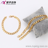 63120-Xuping Jewelry Fashion Man Brass necklace and bracelet with 18k Gold color