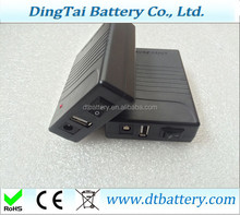 rechargeable battery 11.1v 12V 6000mah Samsung battery lithium battery 5V USB port for led lights GPS recorder Tracker
