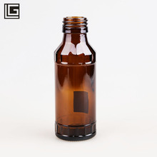 Empty <strong>100</strong> ml round screw cap medical amber glass bottle packaging