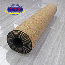 Free Sample Anti-slip PU Rubber Floor custoized round yoga Mat