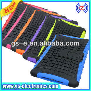 2 in 1 Soft Silicon Hard PC Protective Case Design for iPad Mini with Kick Stand