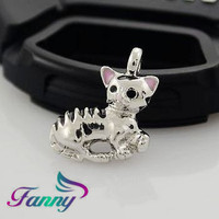 C776 Silver Charms Animal Shape Pendant Custom Jewelry
