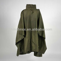 military olive green rain poncho raincoat suit waterproof suit