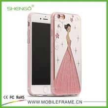 SHENGO Hot Selling Fashion Mirror IMD Plain TPU Mobile Phone Case For Girls for iPhone 6 plus/6s plus