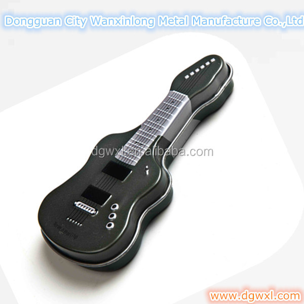 Special guitar shape gift metal box