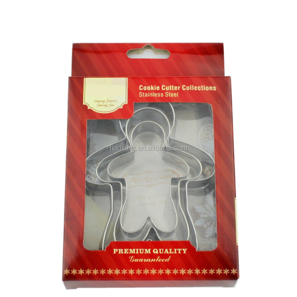 special gift stainless steel Doll gingerbread Man cute cookie cutter set/cake cutter/special gift