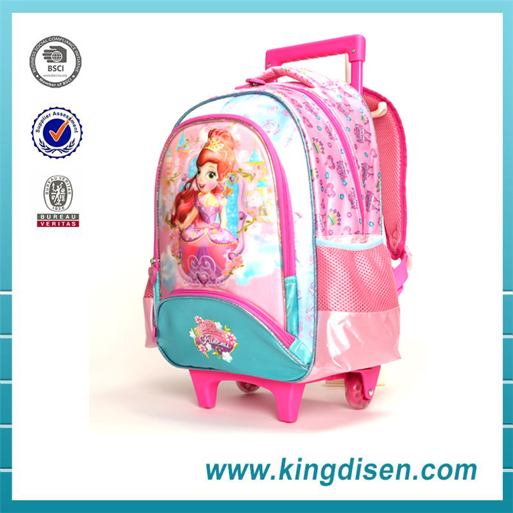 Wholesale fancy children trolley luggage school bag for travel