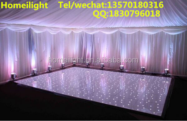2*4ft Professional <strong>Manufacturer</strong> Buy disco panels Acrylic White & Black Starlit led dance floor for wedding