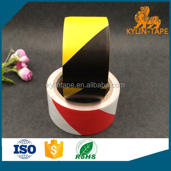china supplier custom PVC reflective barrier tape for warning