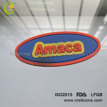 The high quality factory manufacture custom design creative cheap custom clothing silicone rubber felt label