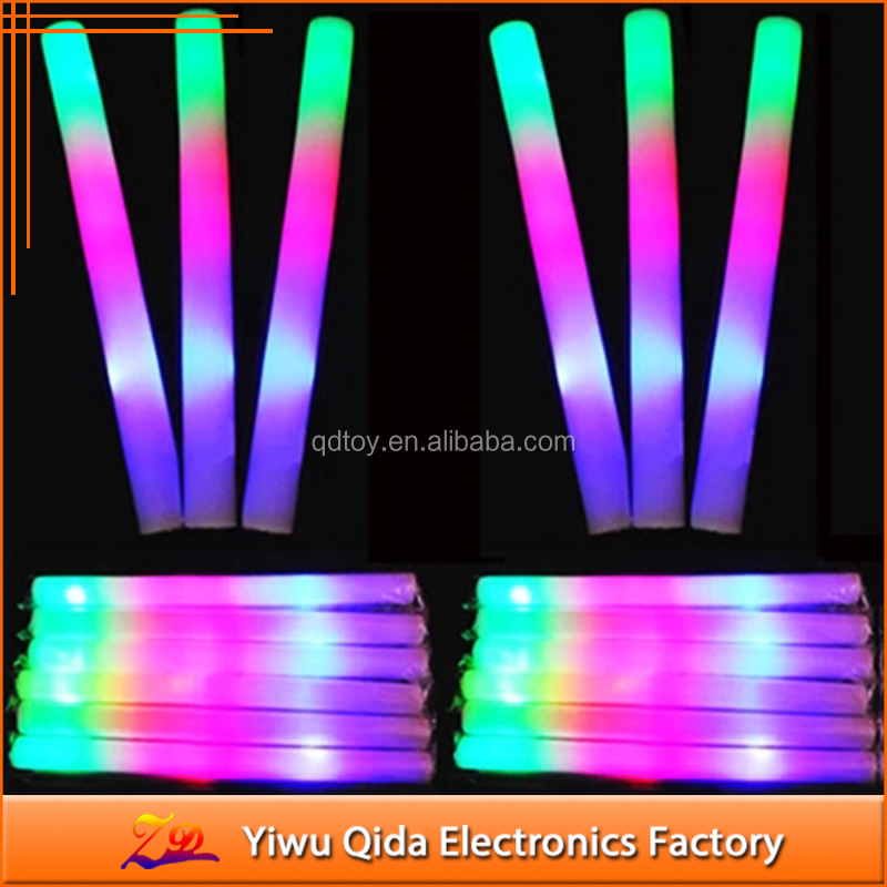 customized LED glow foam stick cheap led baton stick flashing led cheering stick