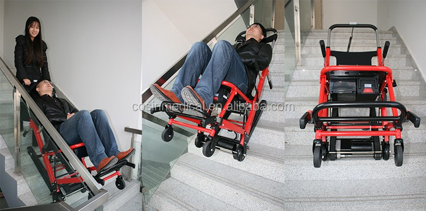Ambulance Stair Chair with Electric Caterpillar