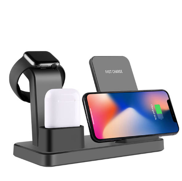 Hot selling For iphone wireless charger fast stand best For Iphone X 7 8 3 IN 1 Cargador Inalambrico Movil
