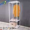 Home Use Steel Shelf Metal Bedside Clothes Shelf With Rack Design