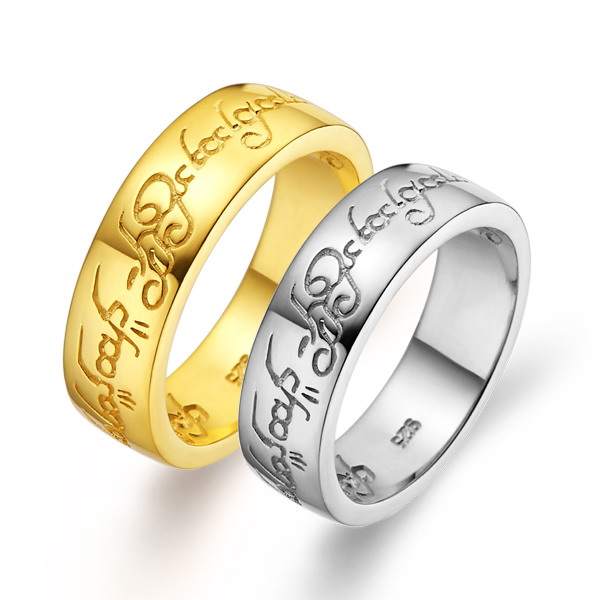 New style hot sell unusual jewelry ring mold gold plated