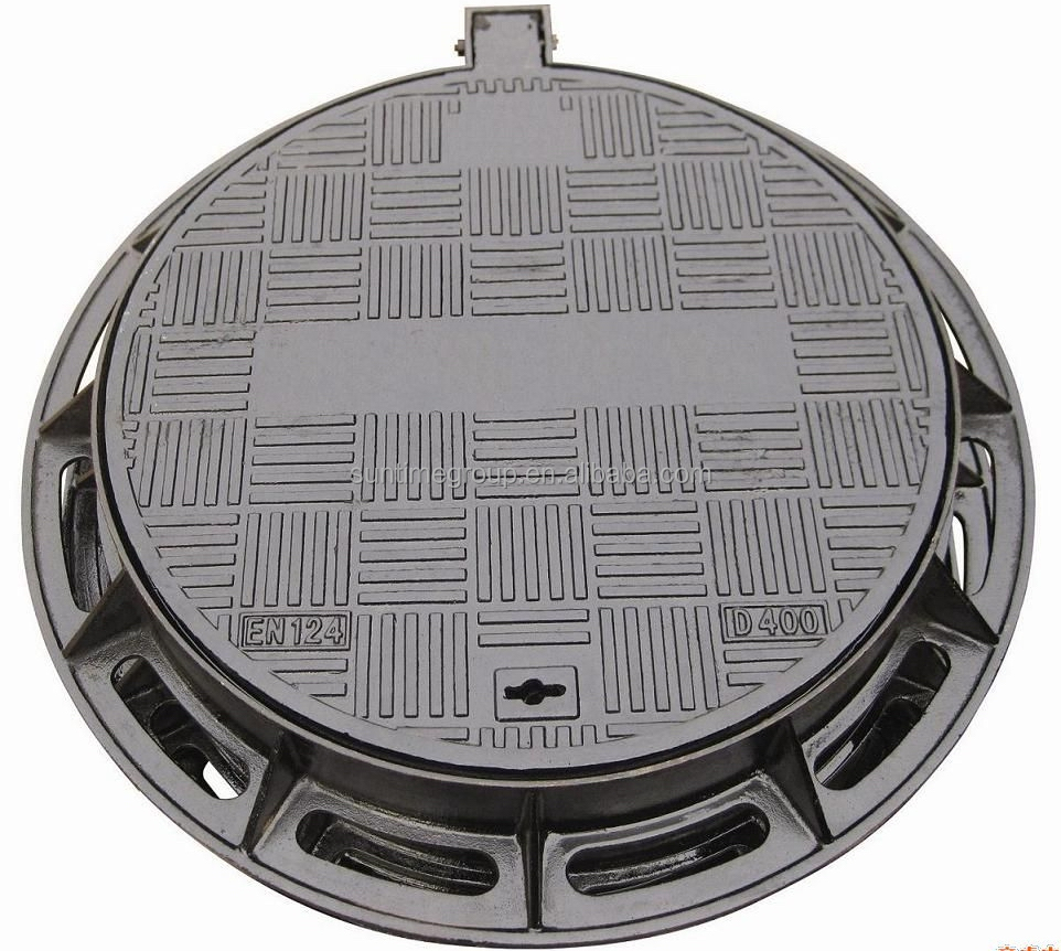 Round Ductile/ Cast Iron D400 Manhole Cover with Frame (DN600)