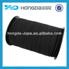 2016 high strength polyester covering black 15mm bungee cord with handle