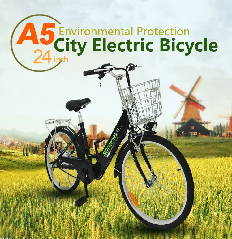 "aluminum electric bicycle / lady ebike / 24""electric bike"