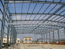 large span lightweight prefab steel structure fabrication workshop constrution plant with crane beam