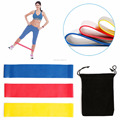 3x Power Resistance Band Home Exercise GYM Workout Fitness Yoga Pilates Loop