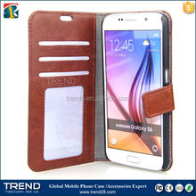 china tablet pc manufacturer pu cover card slot case for samsung galaxy s6