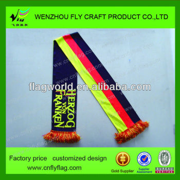 2013 German football Fans scarf/ Polyester scarf/ football fan knitted sport team scarf