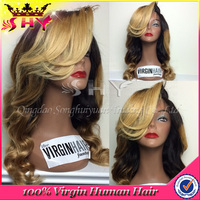 High quality virgin human hair body wave wig party China supplier