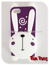 2014 hot lovely animal silicone cover for iphone 5/5s case