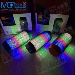 Portable wireless bluetooth speaker with led light