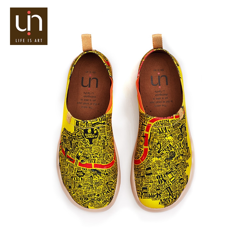 UIN Modern City high quality summer casual style canvas men slip on loafers shoes