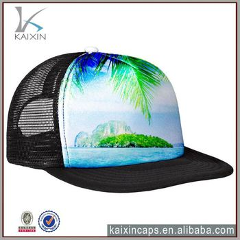 camo trucker cap sublimation trucker cap