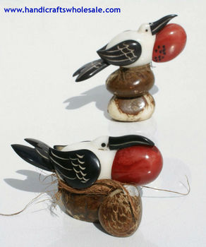 Frigatebird Figurine Tagua Hand Carved Galapagos Unique Bird Sculpture Collectible Statue Vegetable Ivory Art Ecuador