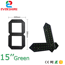 "15"" Green Color Digita Numbers Module 7 Segment LED Display for Oil Price LED Signs LED Gas Price Remote Control"