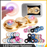 high quality brass led hand spinner fidget
