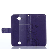 Leather flip stand insertcard cover case for Acer Z530