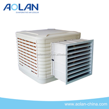 AZL16-ZC10G 16000m3/h industrial evaporative air cooler inverter control WITH SIDE DUCT
