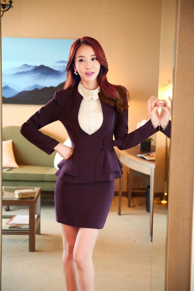 Gaobu new model korean style office uniform designs modern women skirt suits