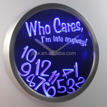 neon clock neon light wall clock neon wall clocks