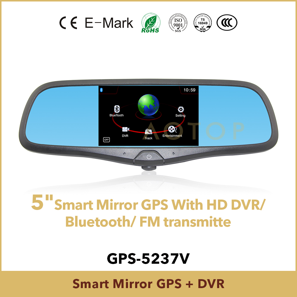 car mirror gps with dvr function, bluetooth, FM Transmitter, GPS navigation function