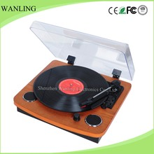 Antique portable bluetooth phonograph entertainment record player turntable wholesale