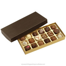 cheap chocolate boxes with PET blister tray