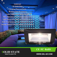 stainless steel motion sensor solar wall light with switch