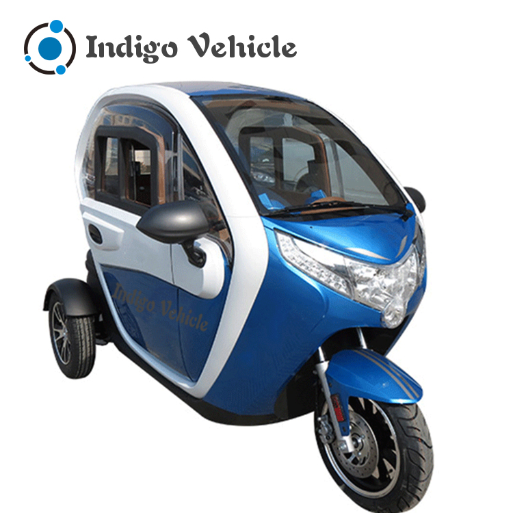 three wheel enclosed electric tricycle for adults