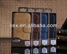 For Samsung Galaxy S3 i9300 High Quality Ultra Thin Magnetic Flip Wallet Genuine Cowhide Leather Stand Case