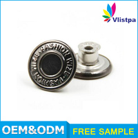 High end logo engraved jacket snap buttons
