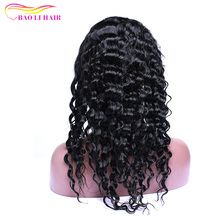 Hot Selling Tangle Free Mongolian Deep Wave Full Cuticle Human Hair Wig