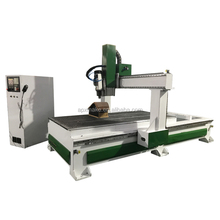 3D Cnc Wood sculpture making engraving machine with linear ATC