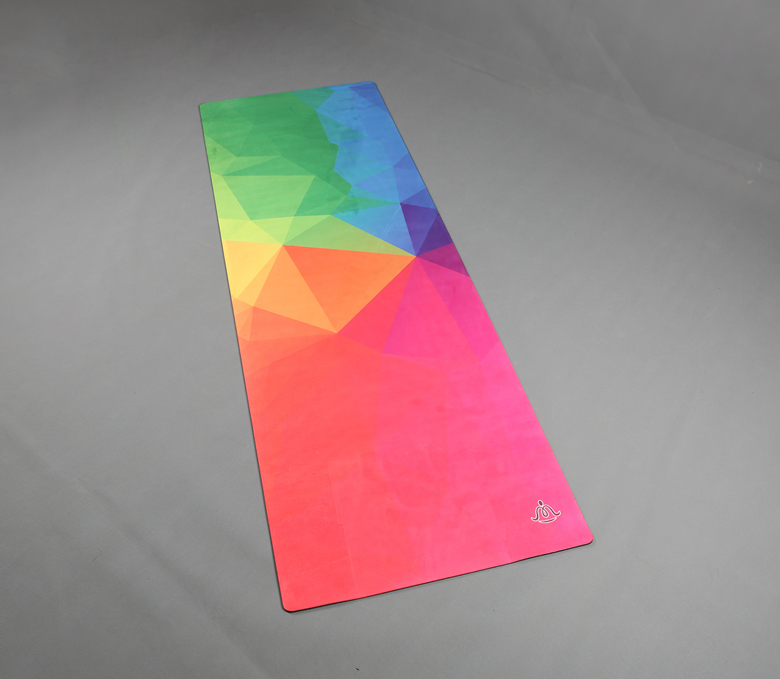 New product full color black natural rubber Yoga Mat yoga mat silk printing