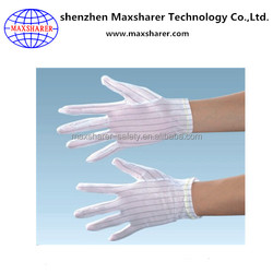 Anti static gloves esd polyester esd fabric China supplier